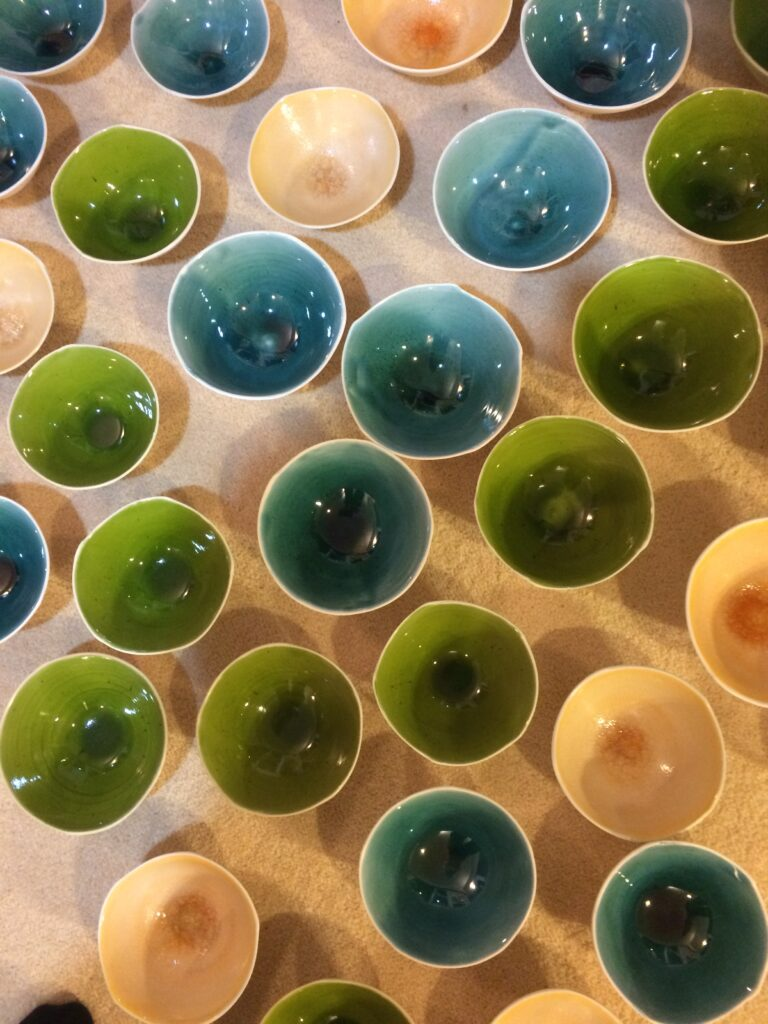 Aimee McLeod- clean skin bowls, lime, aqua, caramel
